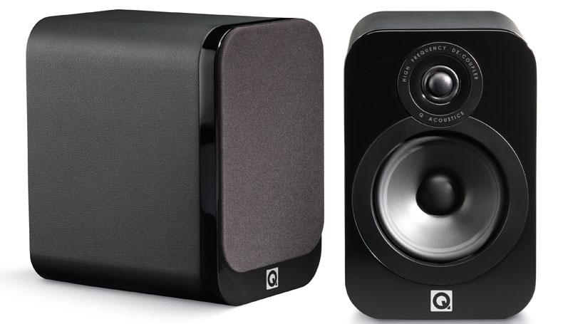 Q Acoustics 3020 Black leather finish